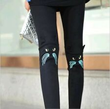 Korean Cat-ears On Knee Leggings - CHARCOAL/DARK GRAY-XS/S