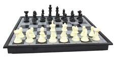 Brettspielset Dame Backgammon Schach 3 in 1 mit Magnetfeld Reisespiel