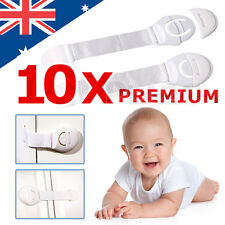 10PCS Adhesive Child Kid Baby Safety Locks For Door Drawers Cupboard Cabinet AU