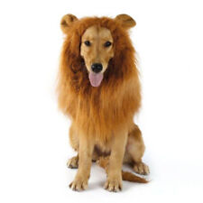 Pet Clothes  Dog Costumes Fancy Dress Up Lion Mane Wig for Large Dogs