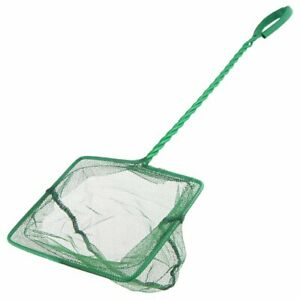 Aquarium Fish Tank Net w/Strong Coated Handle, Safe for catching all types Fish