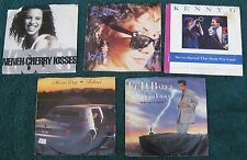 Lot of (5) 45 rpm records: Neneh Cherry/Shiela E./Kenny G/Morris Day/El DeBarge