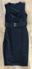 Stretchy Black Pencil Wiggle Dress 12 Jane Norman