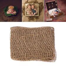 Newborn Jute Backdrop Blanket Photography Prop Chunky Burlap Layer Net Baby