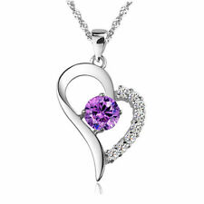 Silver Plated Amethyst Fashion Necklaces & Pendants