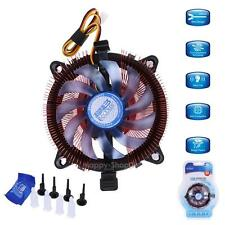 CPU Fan Quiet Cooler Heatsink for Intel LGA775 LGA1150 LGA1151 LGA1155 1156 AMD