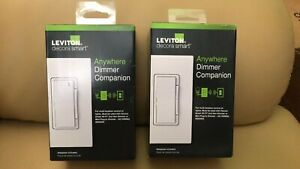 LOT OF 2 Leviton Decora Smart Anywhere White WiFi Dimmer - (switch - dimmer)