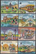 ST.VINCENT GRENADINES #623-30 A DISNEY 8 STAMP HAS MICKEY and MINNIE IN INDIA
