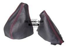 Gear & Handbrake Gaiter For Fiat Barchetta 1995-05 Leather Red Stitching