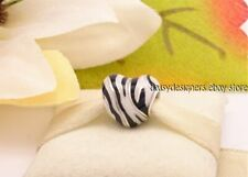 NEW Authentic Pandora WILD STRIPES Zebra Heart Animal Charm 798059ENMX RETIRED
