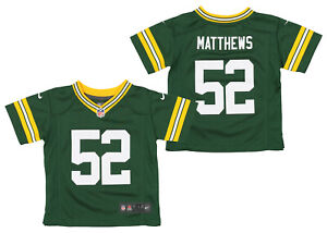 Nike NFL Kids (4-7) Green Bay Packers Clay Matthews #52 Game Day Jersey