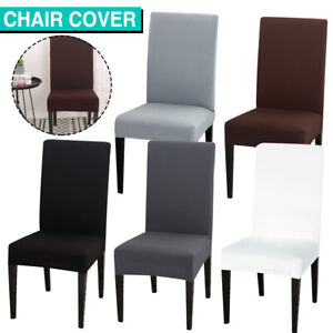 Dining Chair Covers Slipcover Stretch Spandex Wedding Cover 1/4/6/8Pcs Removable