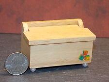 Dollhouse Miniature Oak Toy or Blanket Chest  1:12  one inch scale  F6B