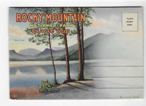 VINTAGE-POSTCARD FOLDER-ROCKY MOUNTAIN NATIONAL PARK AND CIRCLE TRIP-COLORADO