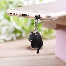 Cute Cat Hanging 3.5mm Anti Dust Earphone Jack Plug Stopper Cap For Phone MA