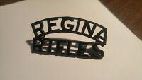 Vintage Candian Military Regina Rifles Shoulder Title Badge War
