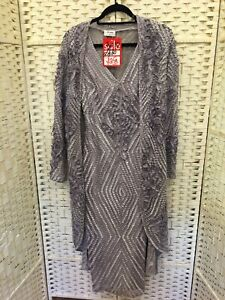 Mother Of The Bride New Arruba Dreess And Coat Stunning Pale Grey Size 10
