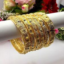 Indian Asian Size:2.10 Bridal Pakistani Jewellery 22ct Gold Plated Bangles