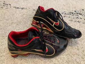 Nike Shox Black/Red/Gold Mens Retro Running Shoes 315742-061 Sz 9 US