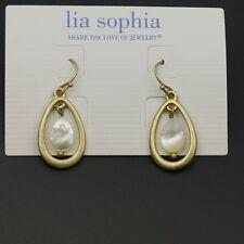 lia sophia jewelry vintage gold matte cute shell drop dangle earrings