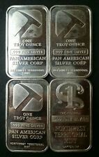 Lot of Four NWTM 1oz Silver Bars