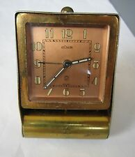 Rare Vintage Men Jaeger LeCoultre Designer Mechanical Winding Alarm Clock SWISS