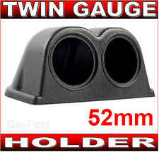 "TWIN GAUGE HOLDER BINNACLE POD FOR 52mm 2""INCH GAUGES - CAR GAUGE HOLDER"