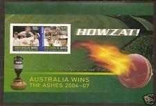AUSTRALIA 2007 ASHES VICTORY Souvenir Sheet IMPERF (Ex Booklet - see description