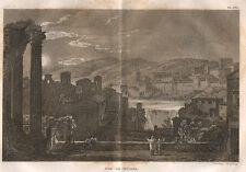 Tivoli, Villa Adriana, 1819 bulino