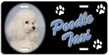 Poodle toy white Taxi Line License Plate (( LOW CLEARANCE PRICE ))