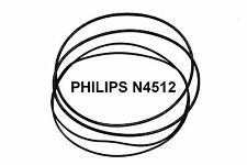 COURROIES SET PHILIPS N4512 MAGNETOPHONE A BANDE EXTRA FORT NEUF FABRIQUE N 4512