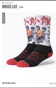 STANCE Anthem Bruce Lee Socks Men Crew Socks Size Large 9-12  NWT Jeet Kune Do