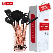 11/12Pcs Kitchen Utensils Set Nonstick Pan Silicone Cooking Utensils Rose Gold H