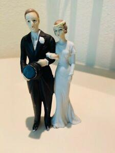 Antique Vintage Bisque Cake Topper Bride and Groom 1920s