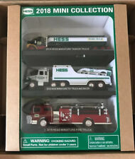 Hess 2018 Mini Collection Set of 3 Tanker/Truck and Racer/Firetruck MINT In Box