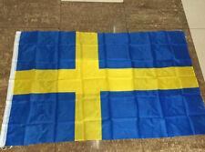 90*150/3x5Ft Large Sweden Swedish Flag Polyester National Banner TP