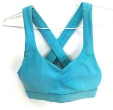 Lorna Jane Crop Top Sports Bra Aqua Blue Active Womens Size Small