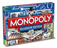 Original Monopoly Glasgow Edition englisch Gesellschaftsspiel Brettspiel NEU