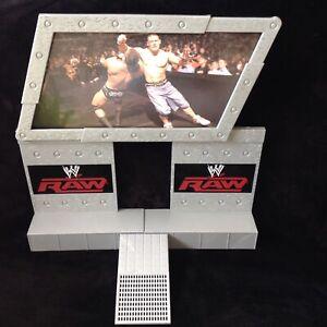 WWE Wrestling JAKKS 2008 RAW ENTRANCE / STAGE PLAYSET wwf Cena jumbo-tron -rare!
