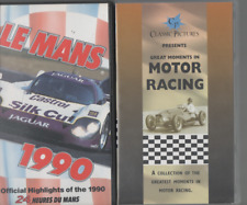 2 VHS VIDEOS LE MANS 1990 & GREAT MOMENTS IN MOTOR RACING