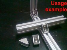 Aluminum T-slot 20x20 profile 90 deg small corner bracket + screw + T-nut, 8-set
