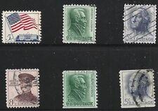 US Scott #1208-09, 1314, 1325 & 1329, Singles 1961-63 Complete Set FVF Used