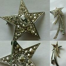 Unbranded Diamante Vintage Costume Brooches/Pins