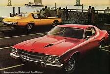 Old Print. Red 1973 Plymouth Road Runner Auto Ad
