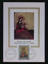 VATICAN MK 1971 MADONNA & JESUS CHRISTUS MAXIMUMKARTE MAXIMUM CARD MC CM c6284