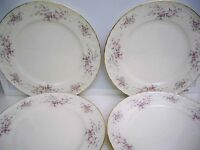 4 GORHAM FINE CHINA ''JOLIE'' DINNER PLATES 10 1/2''
