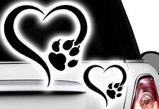 Love Herz Pfote, Dog, Cat, Katzenpfote Hundepfote xAufkleber Sticker x3