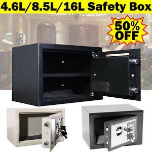 Security Box Digital Deposit Money Cash Jewelry Gun Home Safety Secure Locker UK