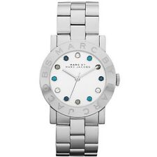 NEW MARC JACOBS AMY SILVER TONE,TEAL+CLEAR CRYSTALS DIAL,BRACELET WATCH-MBM3140