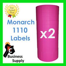 New ListingMonarch 1110 pink labels for one line label price gun - 2 Sleeves ink included
